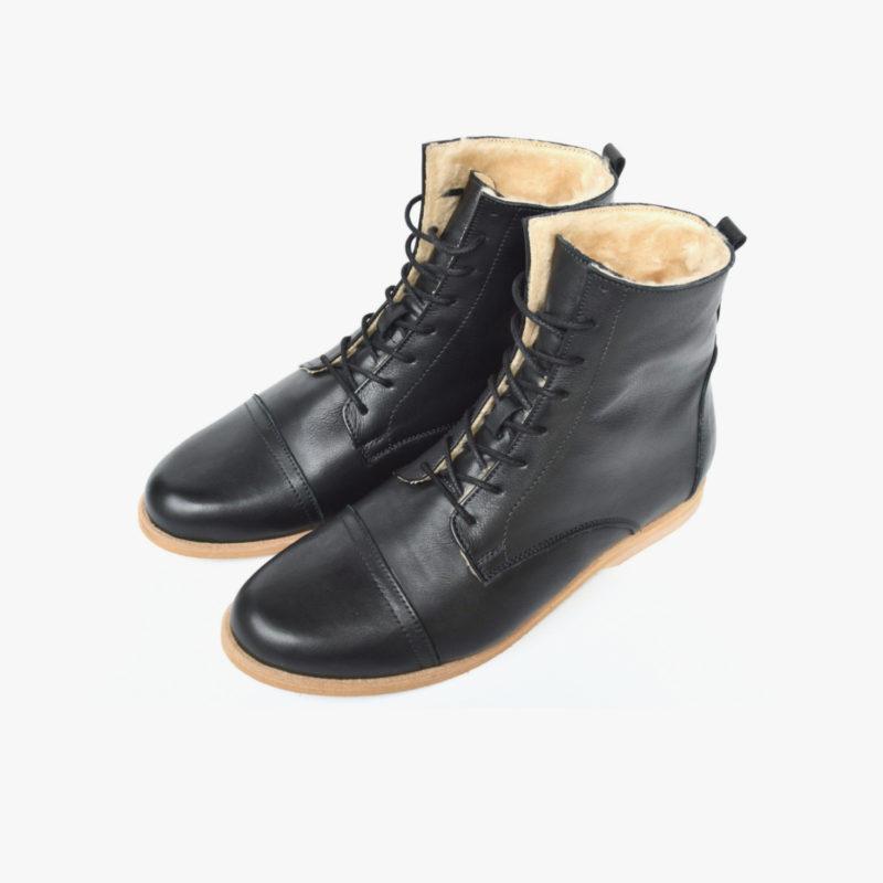 faire Leder Boots warm gefüttert