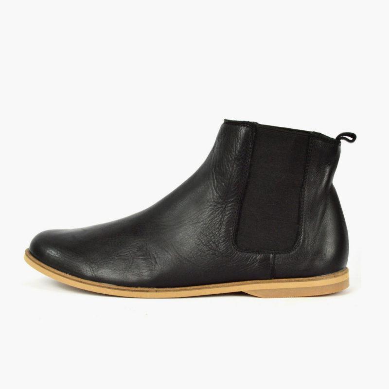 Chelsea Boots Damen Herren schwarz