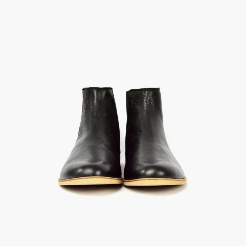 Faire Leder Chelsea Boots Damen Herren