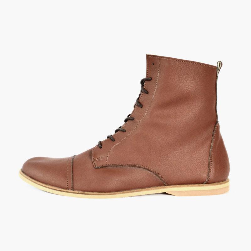 warme vegane Boots Schuhe Braun von Sorbas Shoes