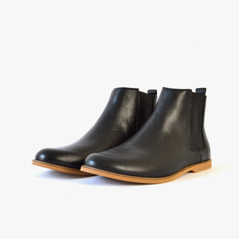 faire chelsea boots damen herren schwarz