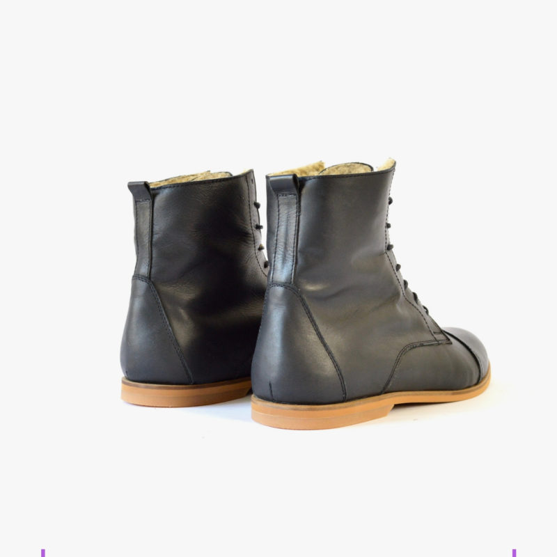 leather boots eco unisex winter