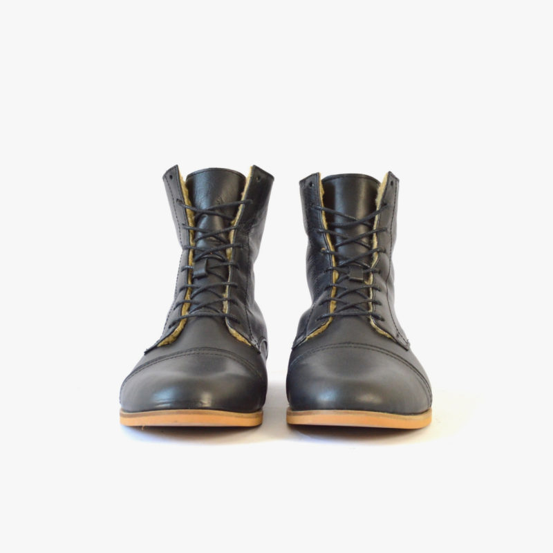 women men boots black sustainable