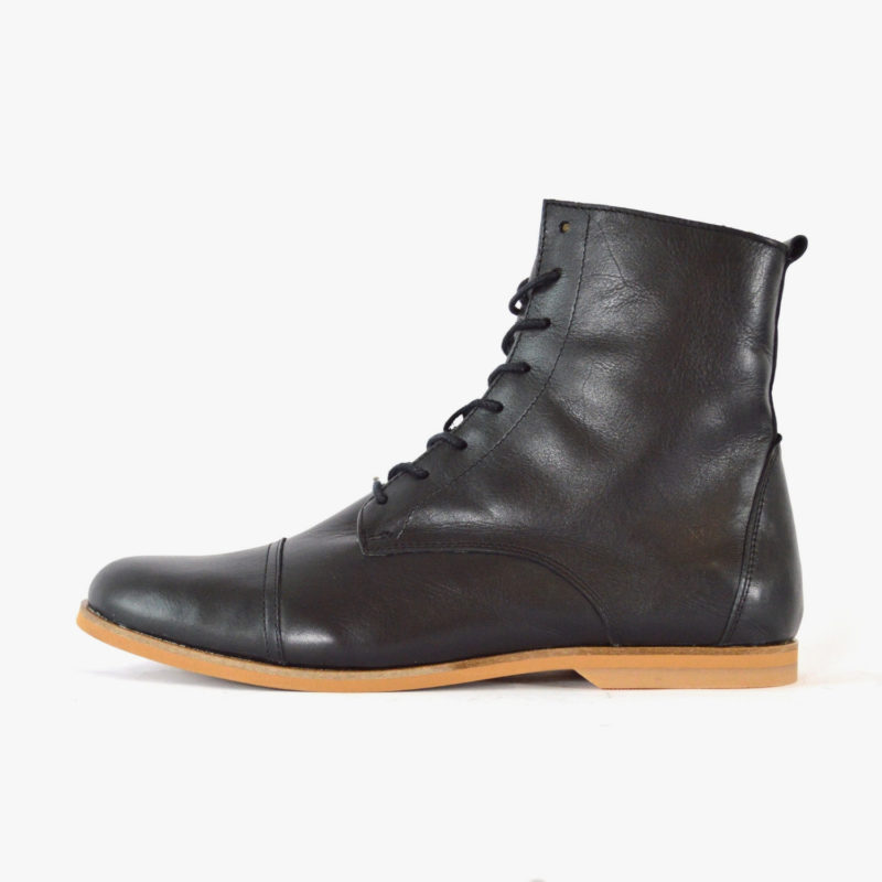 leather boots black SORBAS