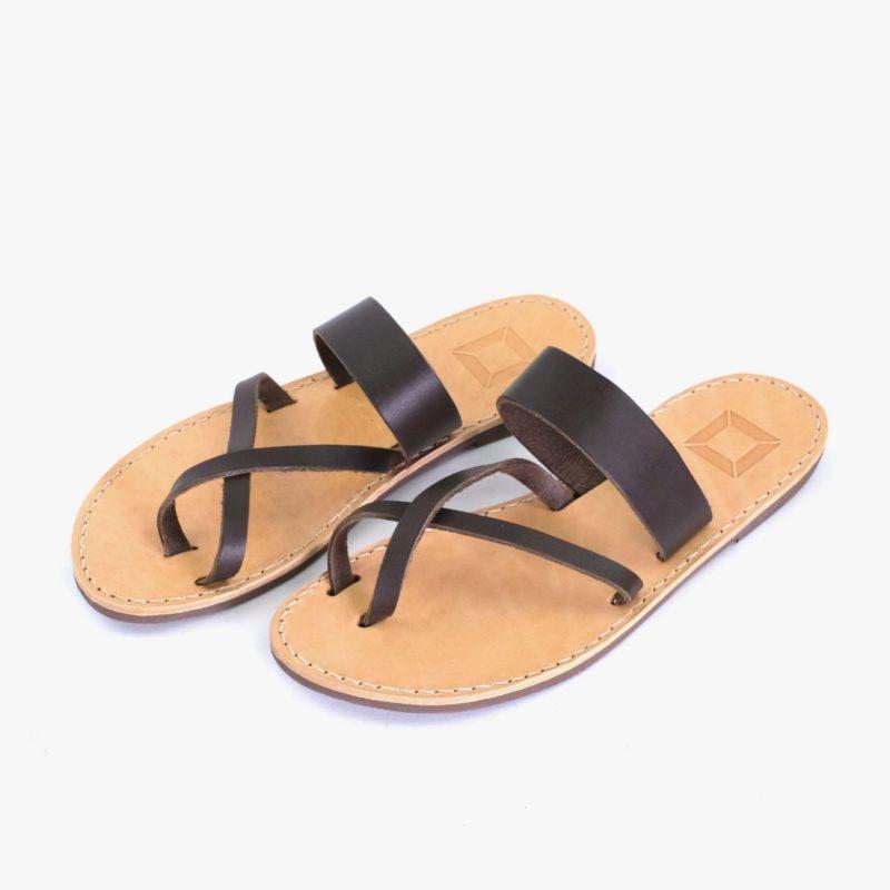 sandalen leder braun