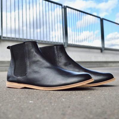 sorbas 88 schwarze chelsea boots