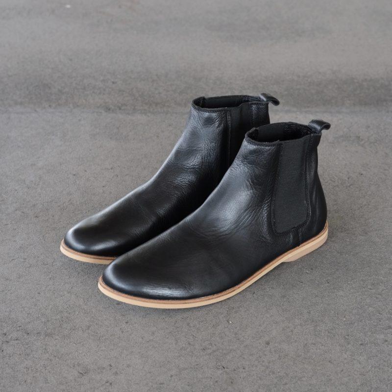 Chelsea Boots aus Leder. Schwarze Stiefeletten aus Leder. Schuhe für Herbst, Winter, Frühjahr, Sommer. Sorbas Schuhe