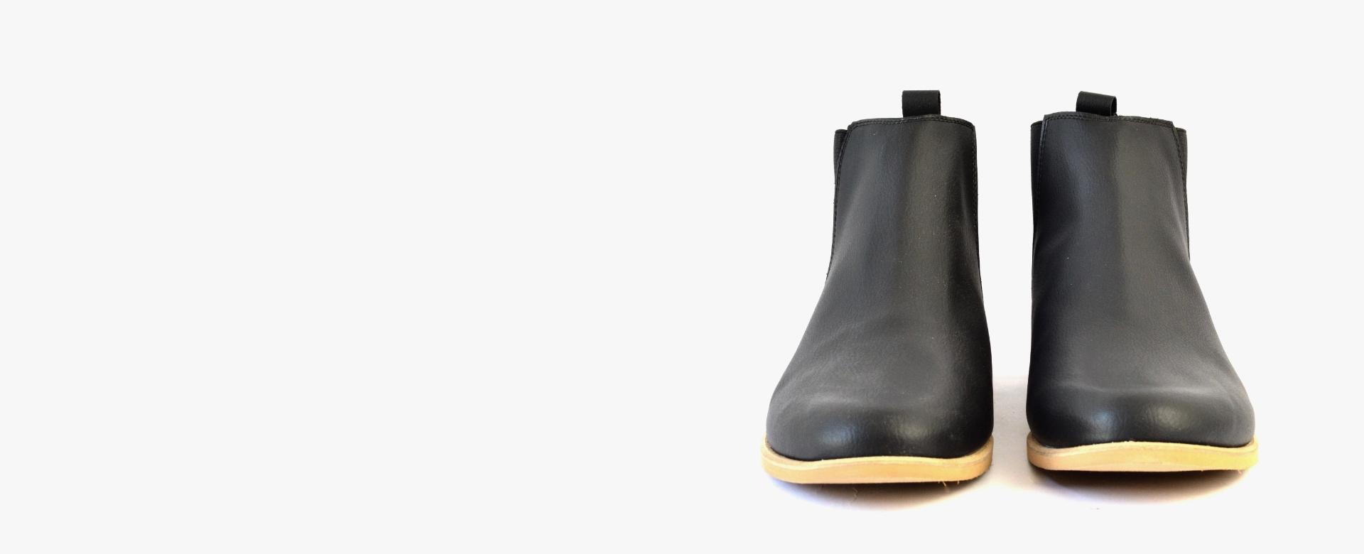 sorbas vegane chelsea boots schuhe schwarz herren damen