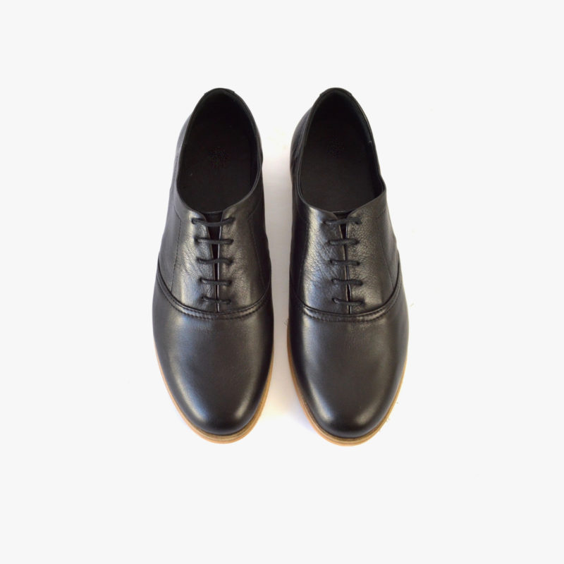 oxford shoes ethically made womens black