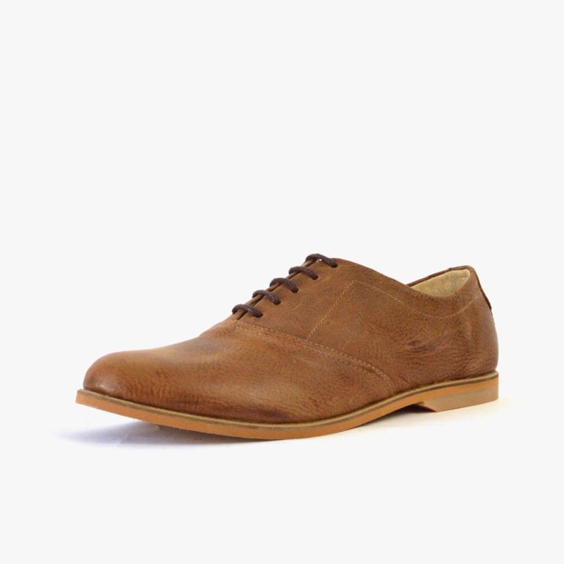 ethically made  brown oxford shoes
