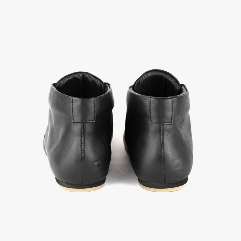 leather shoes black sustainable