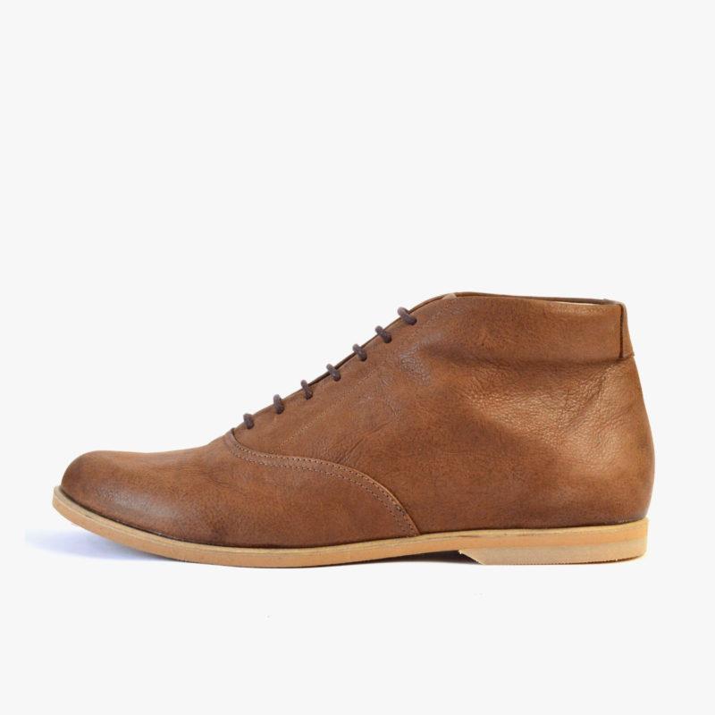 brown ankle boots women men unisex