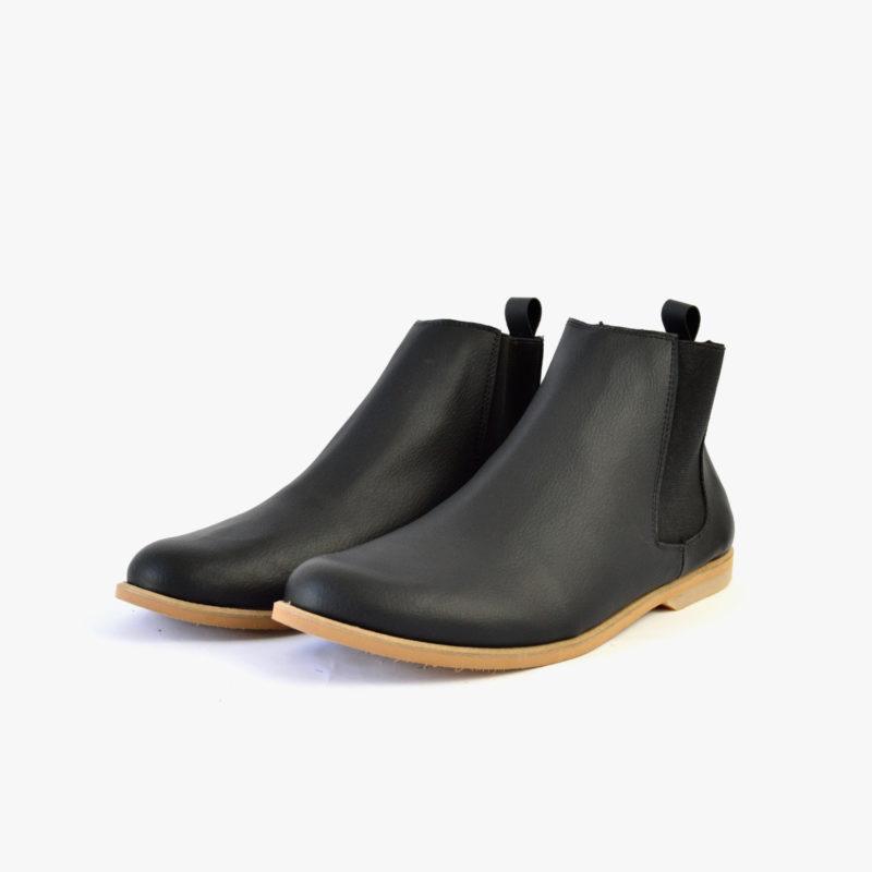 vegane chelsea boots schwarz