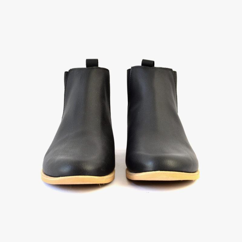 vegan black chelsea boots spring summer fall winter