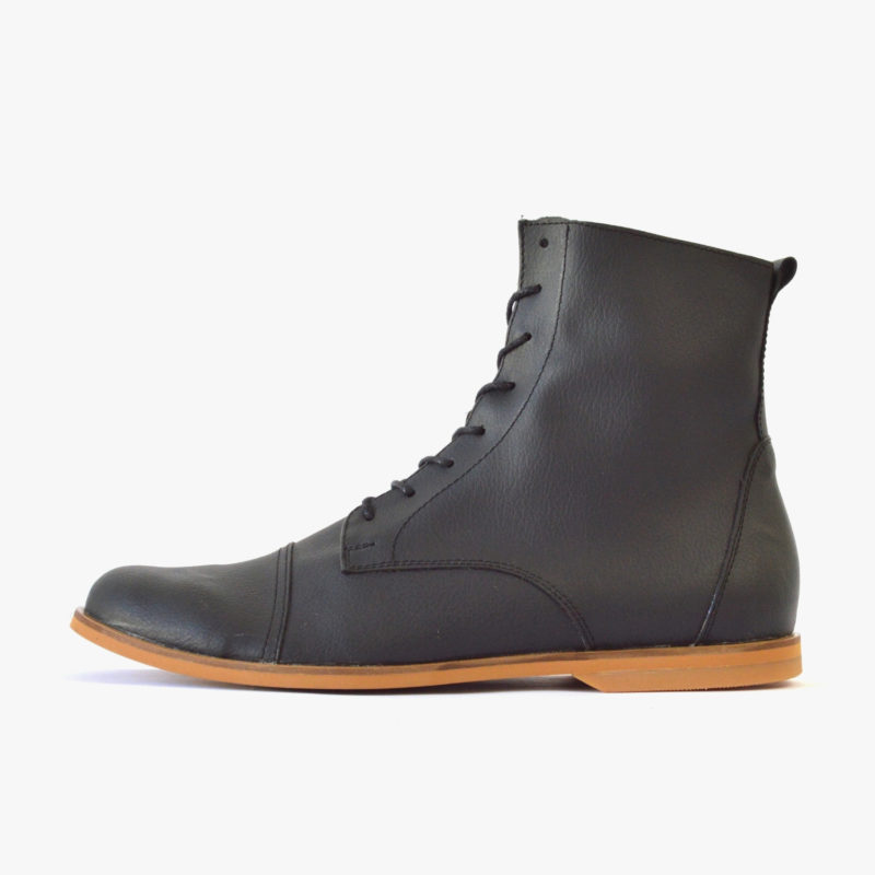 vegan boots winter black