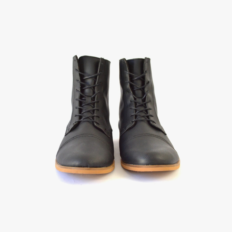 leather-look boots vegan unisex