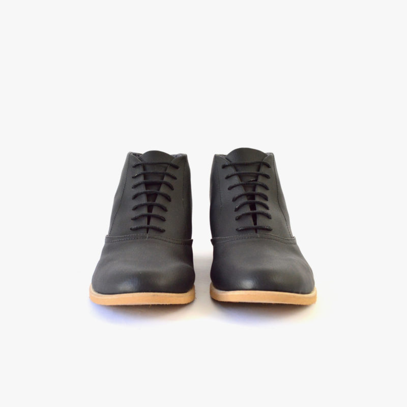 vegan ankle boots man woman black