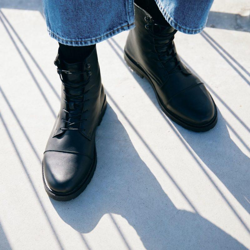94 black nachhaltige stiefel schwarz