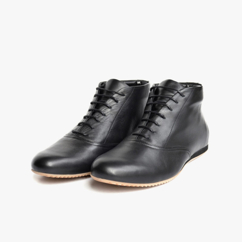 sustainable leather shoes black mens womens