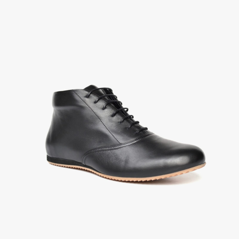 fair trade leather shoes black