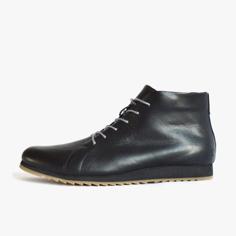 SORBAS 86 Schuhe Leder Schwarz Faire Sneaker
