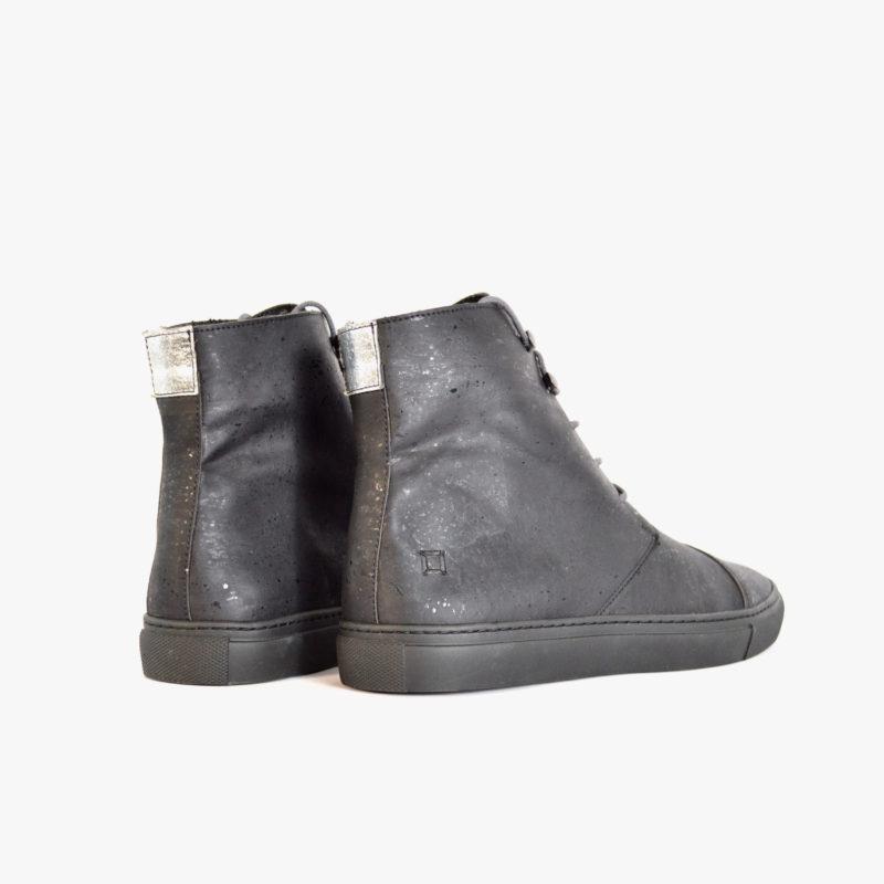 kork boots vegan schwarz