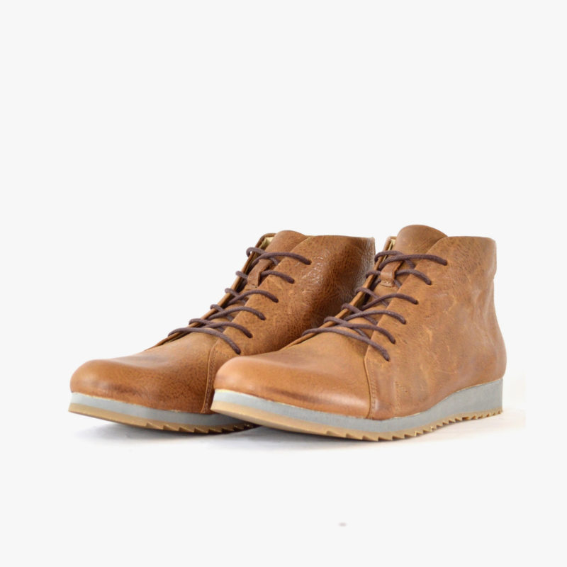 SORBAS Shoes 86 Brown leather boots sustainable