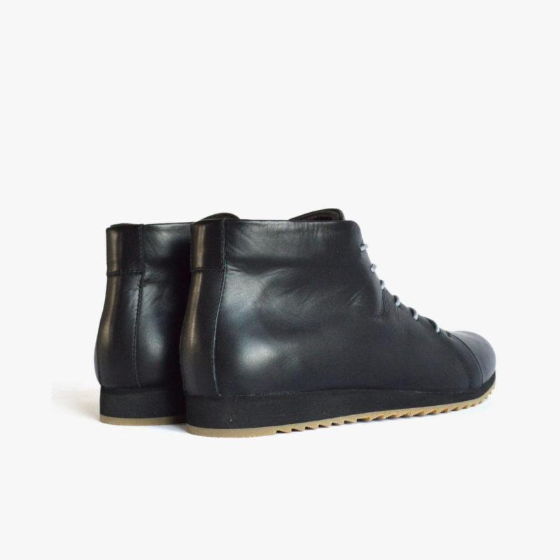 schwarze stiefeletten sneaker leder damen herren unisex (1)