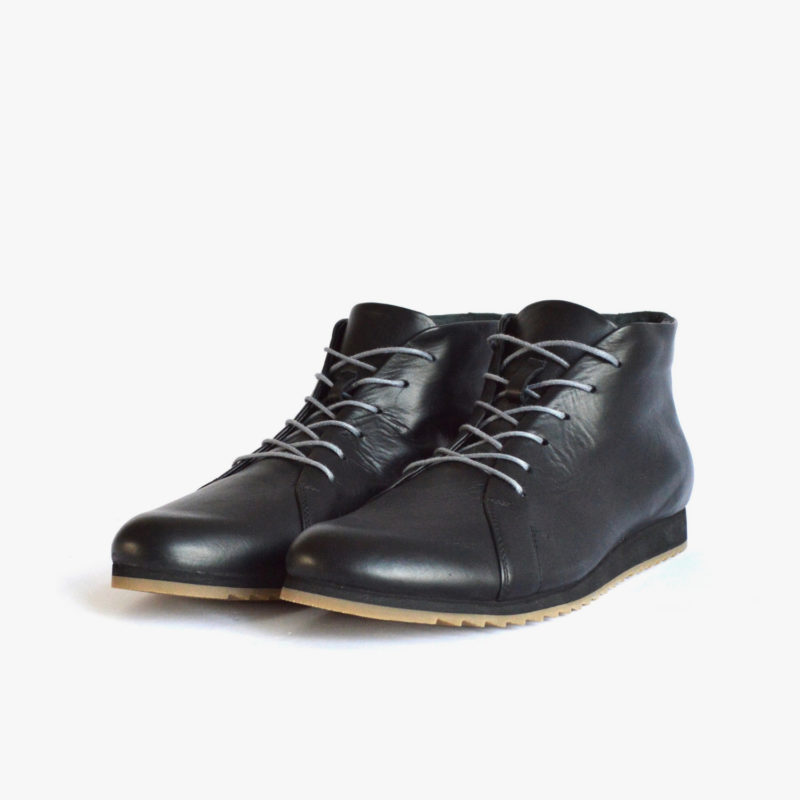 SORBAS 86 leather ankle boots sustainable black men women