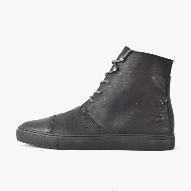 sorbas vegane korkstiefel kork boots schwarz