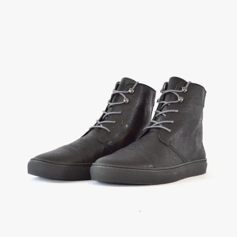 vegane stiefel boots kork schwarz