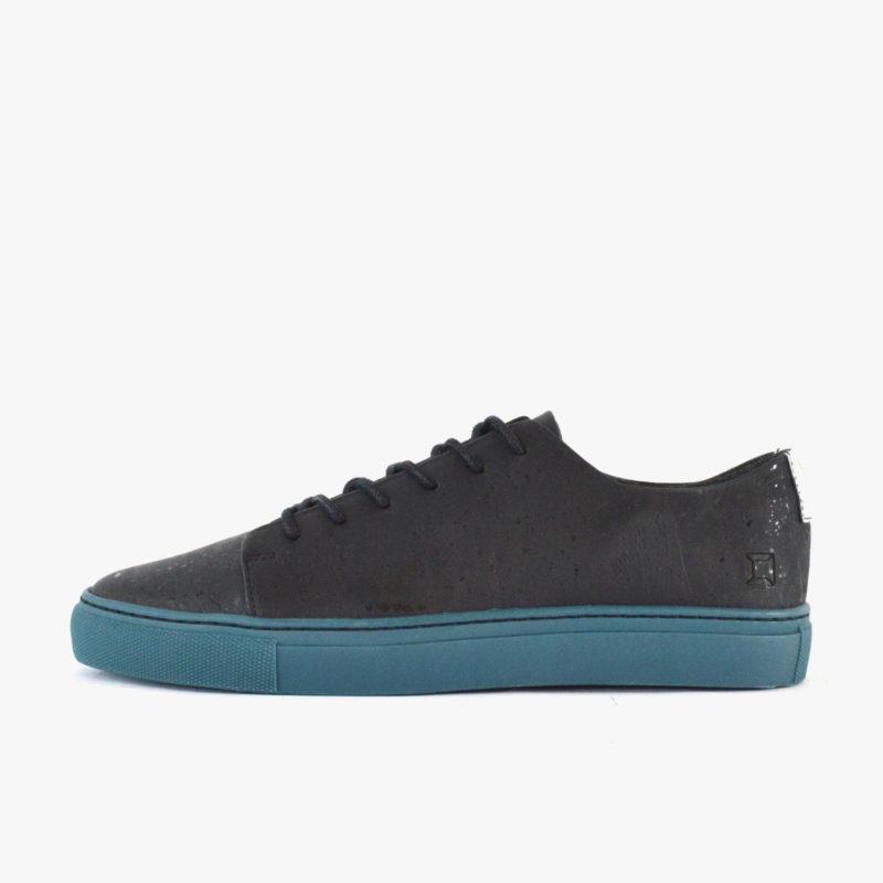 vegane sneaker schwarz blaue sohle sorbas 72