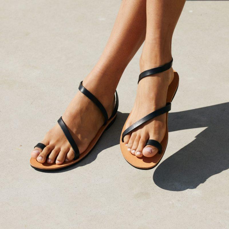 25 schwarz sandalen leder nachhaltig fair produziert sandaletten riemchensandalen
