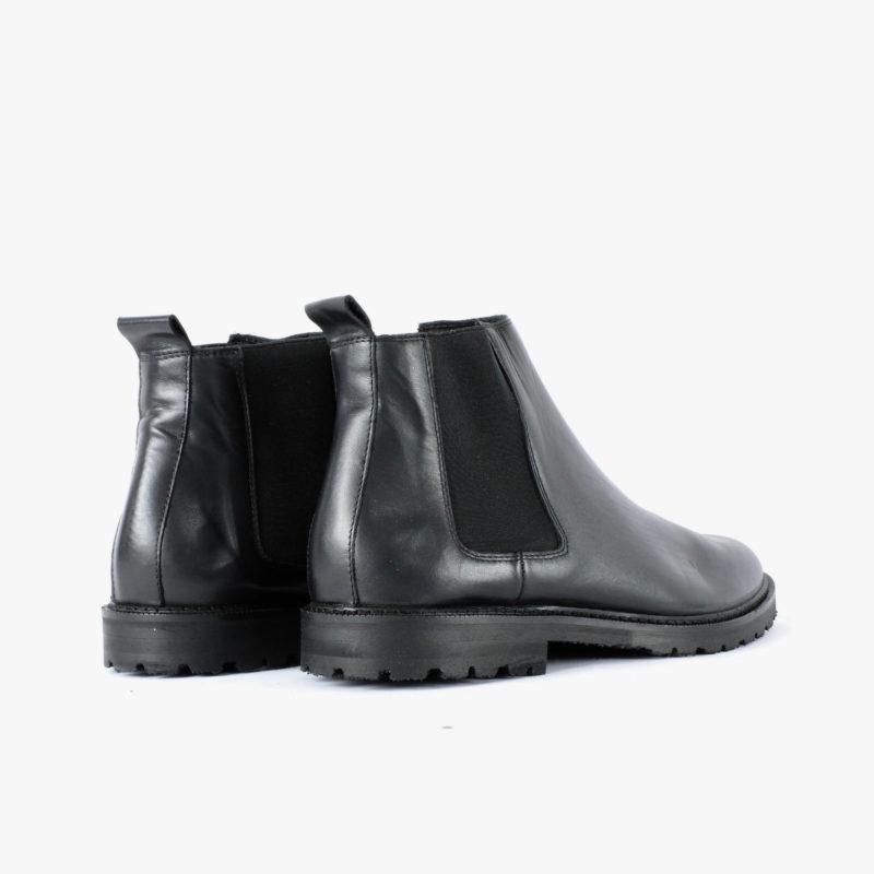 fair produzierte chelsea boots schuhe schwarz