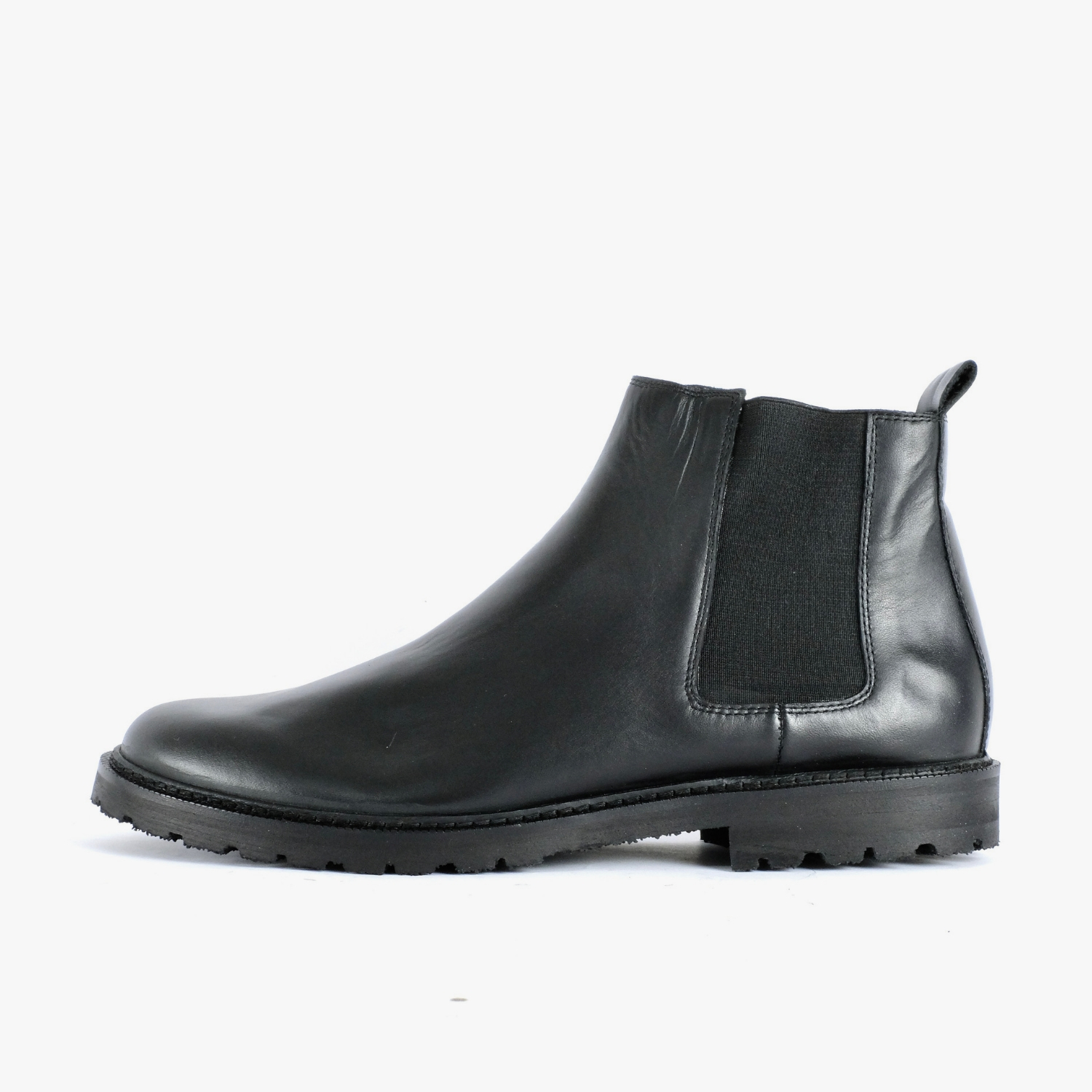 Black Leather Chelsea Boots Ethically Made In Europe