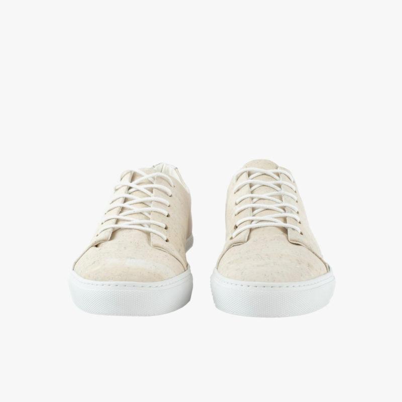 kork sneaker weiss silber