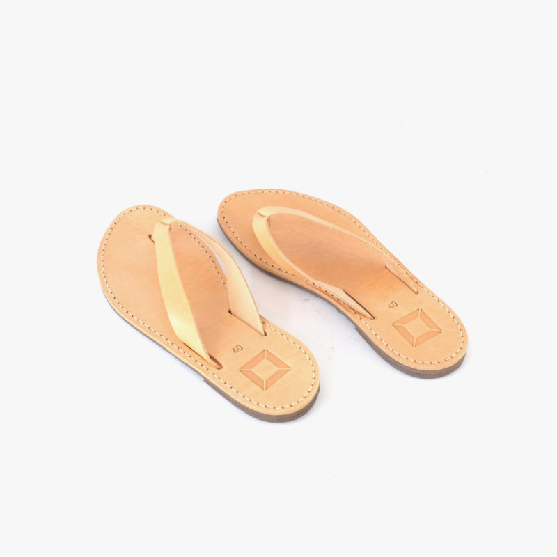 leather sandals brown women men nature