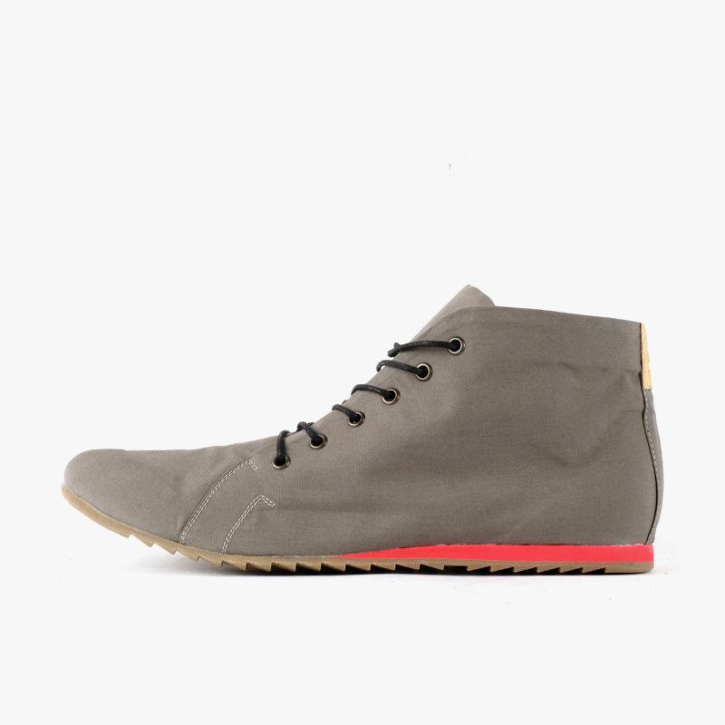 schuhe grau rote sohle sneaker