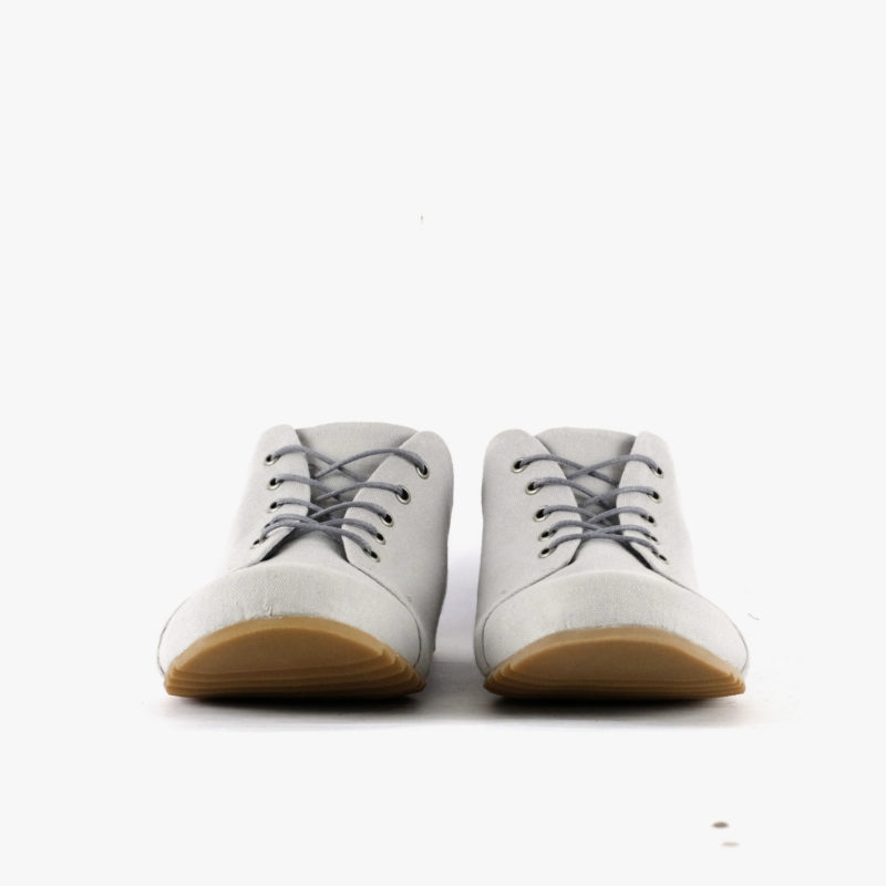 sneakers canvas women men vegan grey