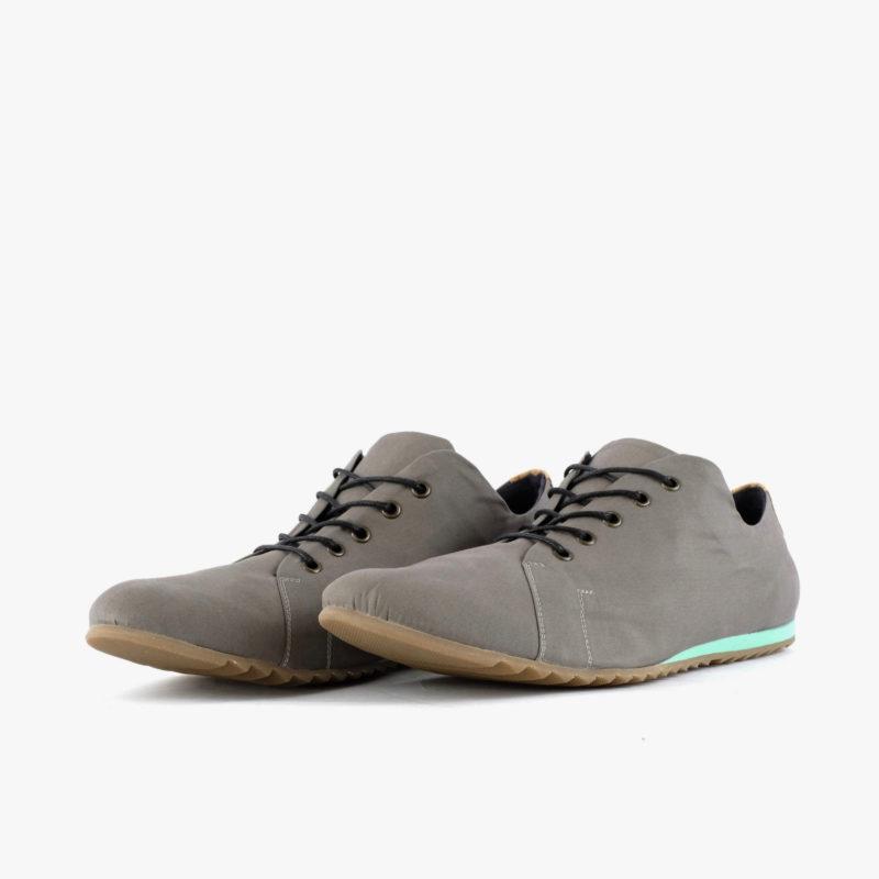 vegan sneakers grey turquoise