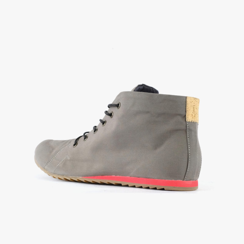 vegan shoes red outer sole grey sorbas shoes