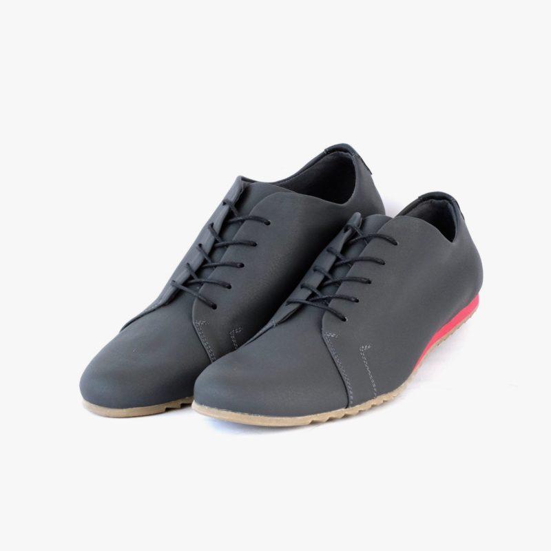 vegane sneaker grau rot