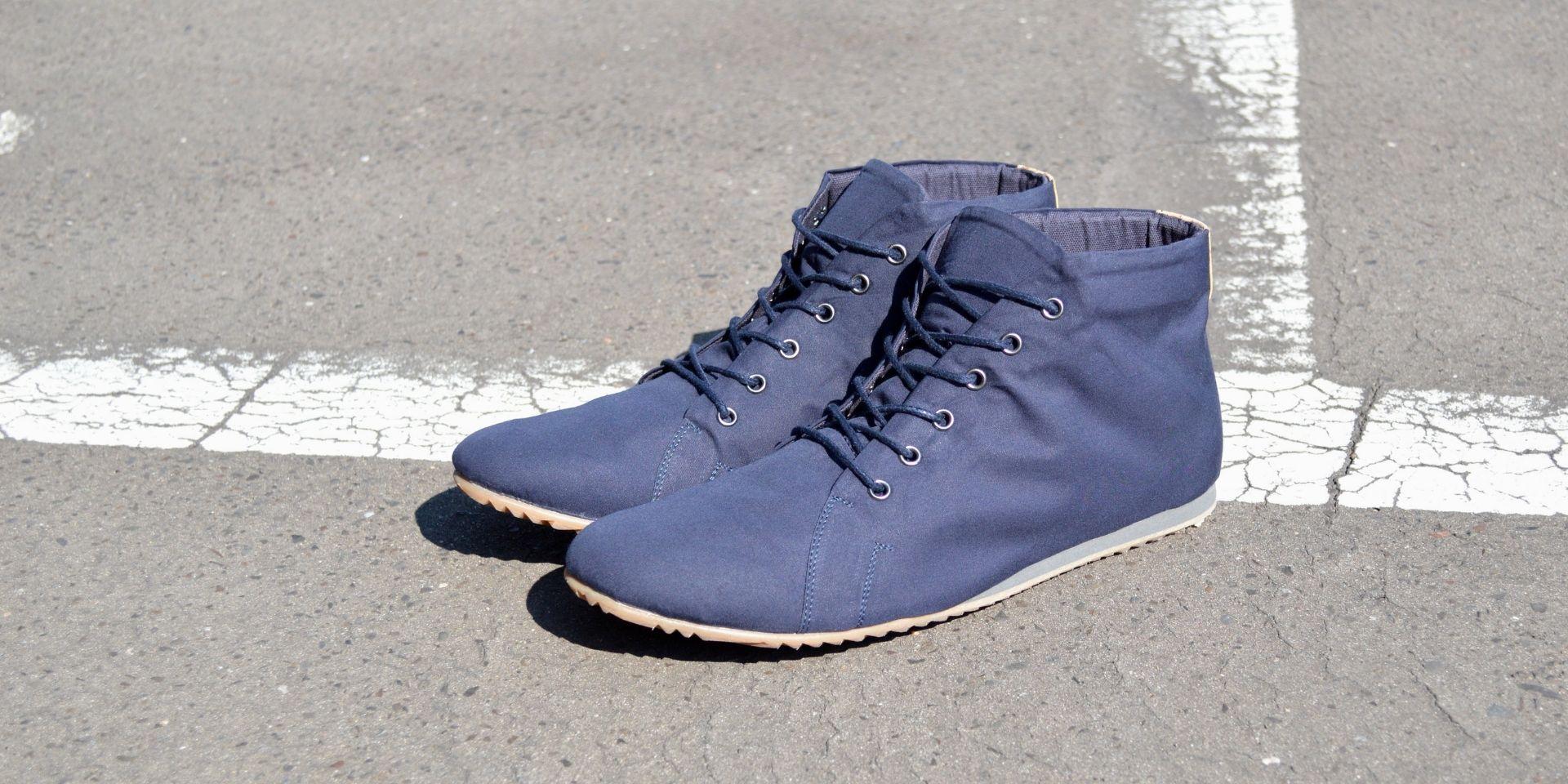 vegane sneaker faire schuhe blau