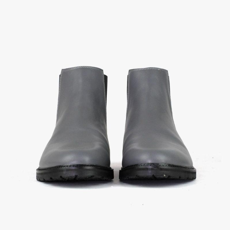 Chelsea Boots Leder grau Damen