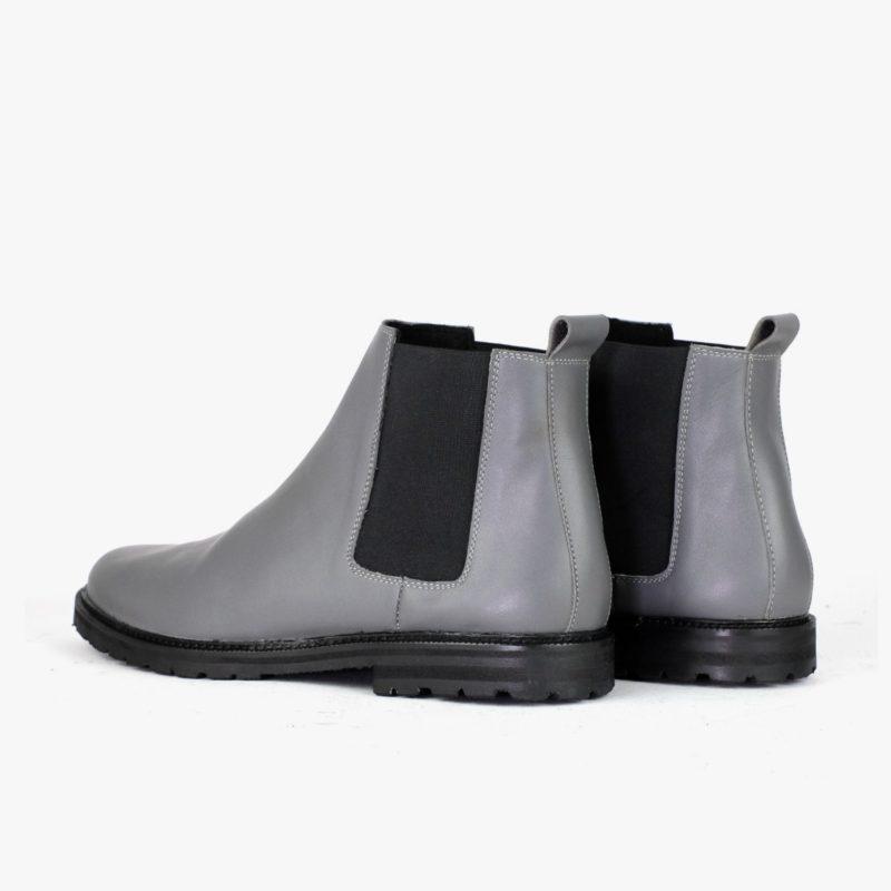 Chelsea Boots Winter Herbst grau Herren