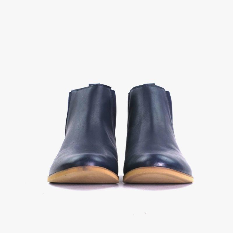 blaue chelsea boots