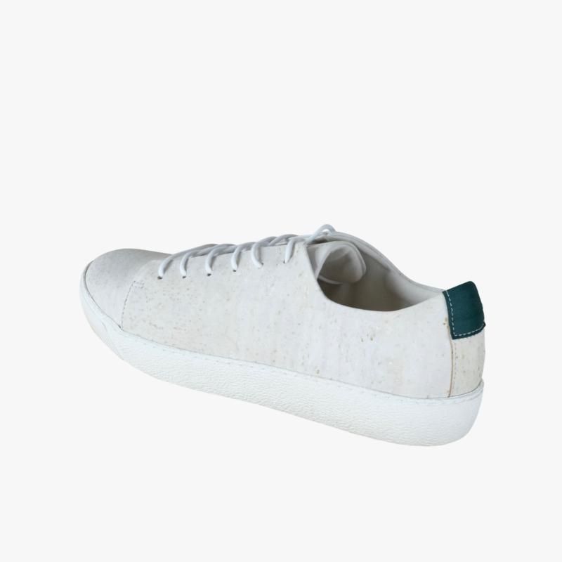 cork sneakers white green