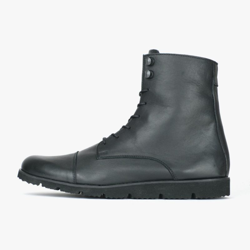 leichte stiefel bequeme boots schwarz