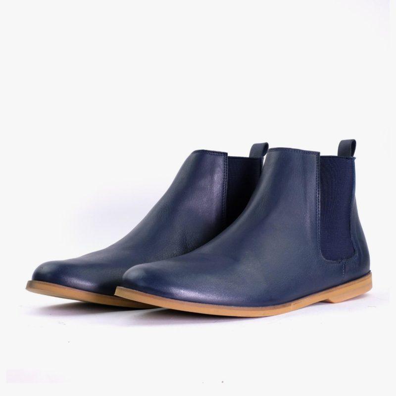 nachhaltige chelsea boots blau