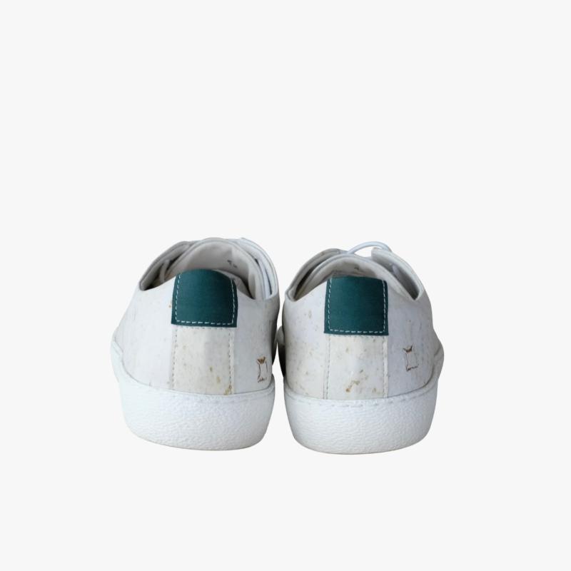 vegan sneakers white green